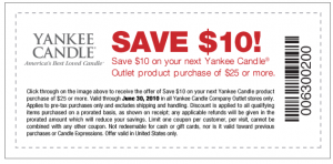 Yankee candle outlet coupons 2019