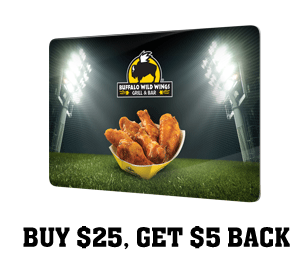 buffalo wild wings gift card promotion buffalo wild wings free 5 gift card wyb 25 gift card 5071