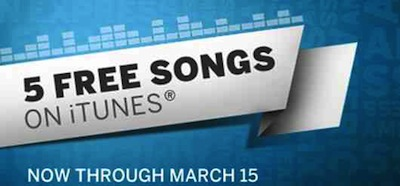 5 FREE iTunes Songs