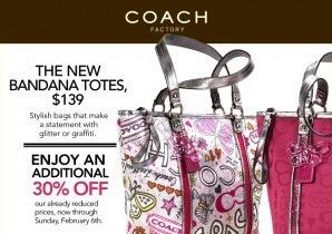 Coach Bandana Totes