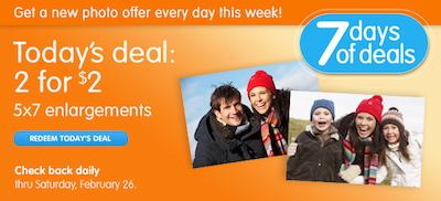 Walgreens Daily Photo Deals