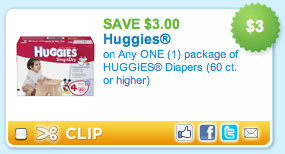 3 Huggies Coupon