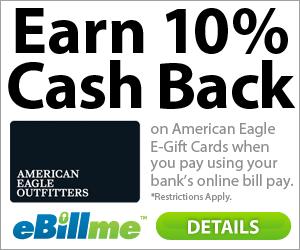 American Eagle Gift Card Cash Back