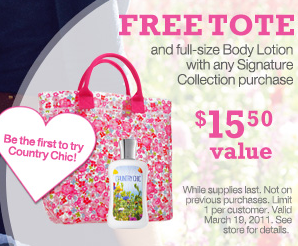 BBW FREE Tote Body Lotion