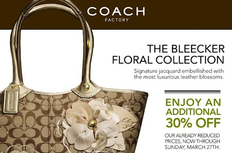 Coach 30 Coupon