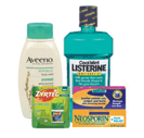 Listerine Aveeno Zyrtec Neosporin