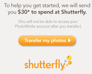 Photoworks Shutterfly Transfer