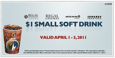 Regal 1 Pop Popcorn