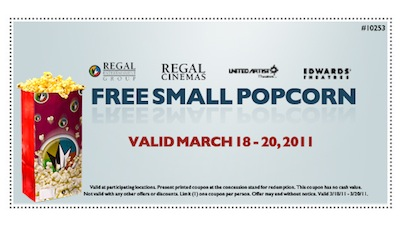 Regal FREE Small Popcorn