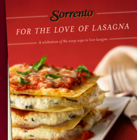 Sorrento For The Love Of Lasagna Cookbook