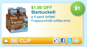 Starbucks Frappuccino Coupon