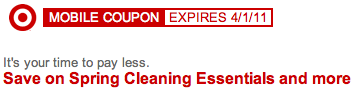 Target Spring Cleaning Mobile Coupons