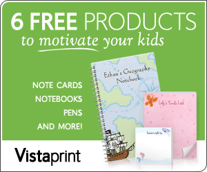 Vistaprint 6 FREE Products Motivate Kids