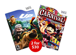 Wii Games 2 for 30
