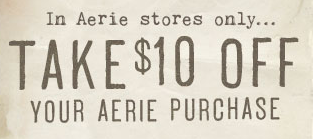 10 off Aerie Coupon