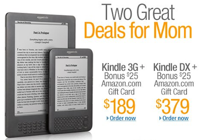Amazon Kindle Gift Card Deal