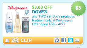 Dove Walgreens Coupon