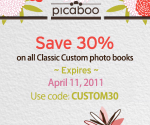 Picaboo 30 off Photo Books