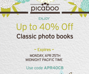 Picaboo 40 off Photo Books