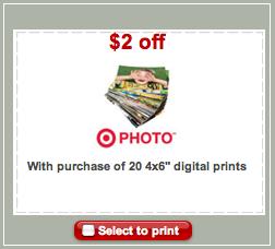 Target Prints Coupon