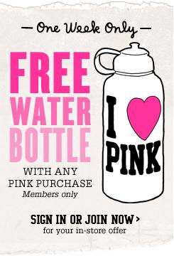 VS FREE Water Bottle Pink
