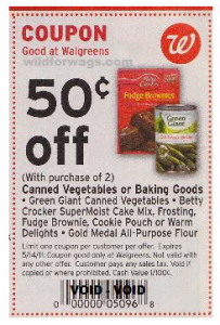 Walgreens Brownies Green Giant Coupons