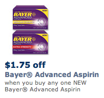 Bayer Advanced Aspirin Coupon