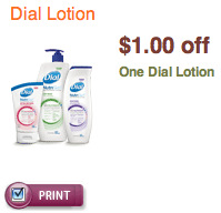 Dial Lotion Coupon