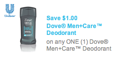 Dove Men Care Deodorant Coupon