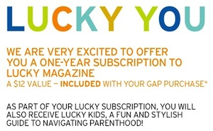 Gap Lucky Magazine Refund