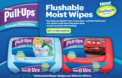 Huggies Flushable Moist Wipes Sample