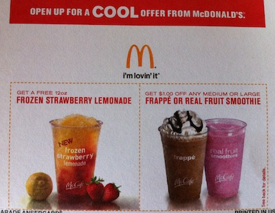 McDonalds FREE Frozen Strawberry Lemonade
