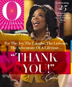 O Magazine Thank You Issue