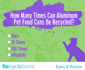 Recyclebank Pet Food Cans Banner