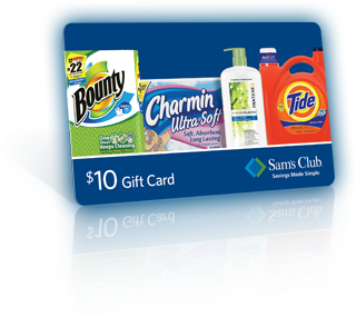 FREE $10 Sam's Club Gift Card wyb $40 in Select P&G Products