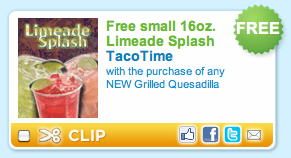 Taco Bell FREE LimeAde Splash Coupon
