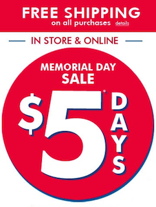 The Childrens Place 5 Memorial Day Sale
