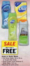 Walgreens Right Guard Body Wash BOGO