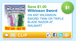 Wilkinson Sword Razor Coupon