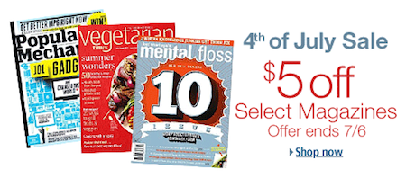 Amazon 4th of July Magazine Sale