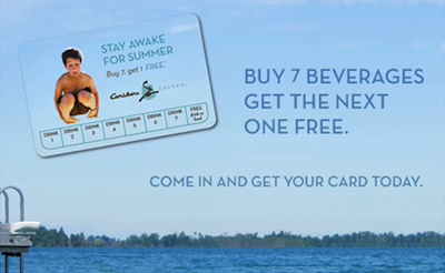 Caribou Coffee Rewards Card