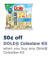 Dole Coleslaw Kit Coupon