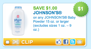 Johnsons Baby Powder Coupon