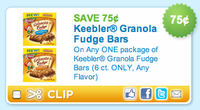 Keebler Granola Fudge Bars Coupon