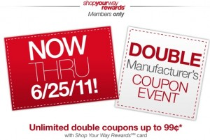 Kmart Double Coupon Event June 2011