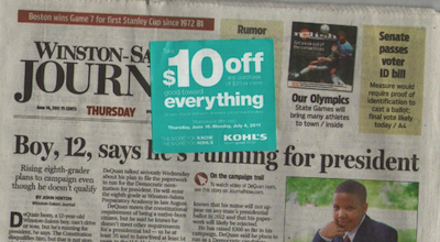 Kohls Newspaper Coupon