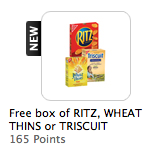 My Coke Rewards: FREE Box of Nabisco Crackers 165 Points