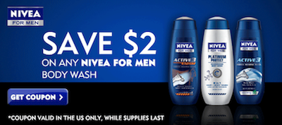 Nivea Mens Body Wash Coupon