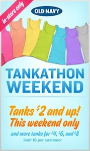 Old Navy Tankathon Weekend