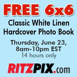 Ritzpix FREE 6x6 Photo Book